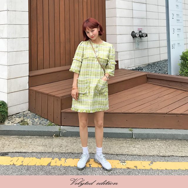 [VELYTED EDITION] Tweed Mini Dress