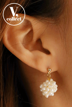[V,Collect] Faux Pearl Cluster Earrings